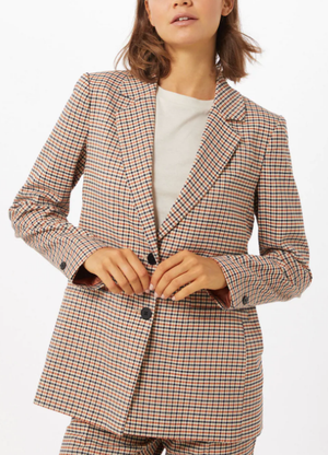 Part two ladies blazer EtlaPW in suiting check, night sky classic