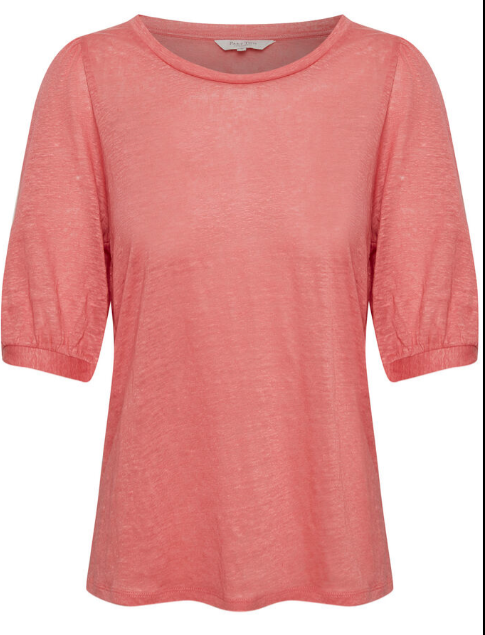 Part Two Evin Pink Linen T-Shirt 30305972
