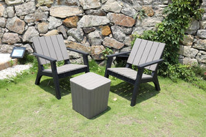 Faro Bistro Set - Wood Grain Effect - Available now