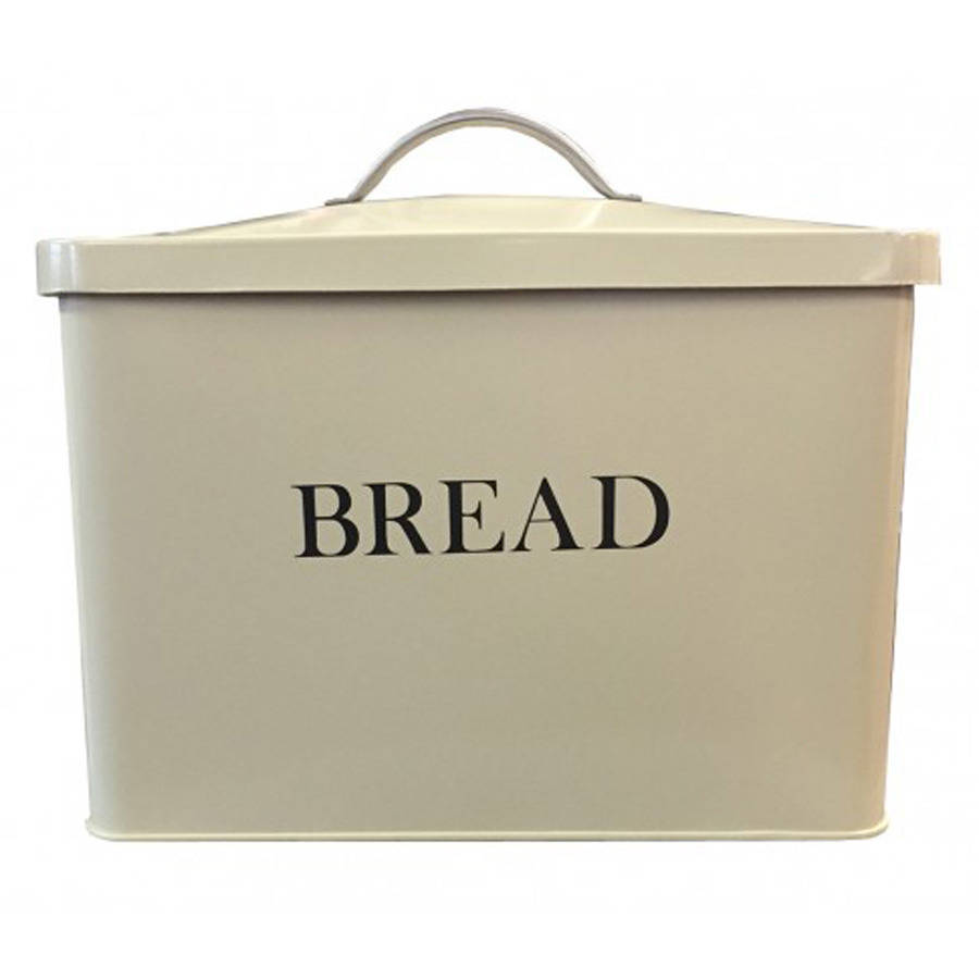Enamel Rectangular Bread Bin Cream