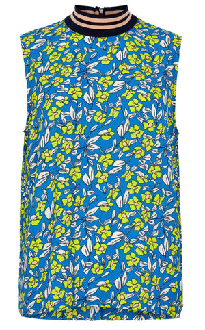 NUMPH WOMENS NUAIDEEN SLEEVELESS SHIRT- P. COAST