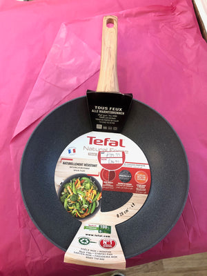 Tefal Natural Force SAFE NON STICK MINERALIA NON STICK 28cm Wok Suitable All Hobs