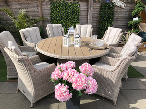 Royalcraft Landford 8 Seater Round Highback Dining Set