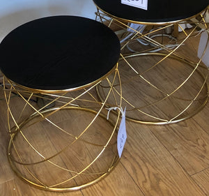 Gold Table With Black Top