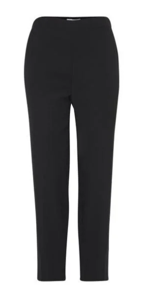 Ichi ladies trousers Ihfranco in black, pleated front and ankle length