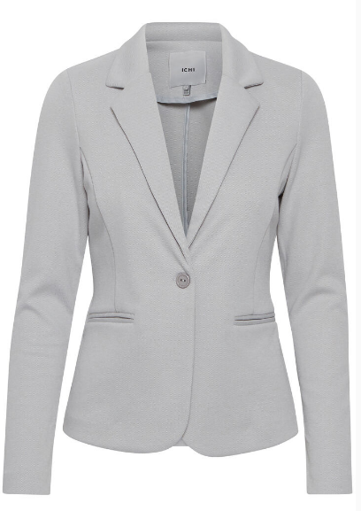 Ichi ladies blazer Ihkate pique in harbour mist, grey jacket