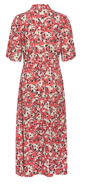 Soaked in Luxury Indiana Rafina Shirt Dress Multifloral Cardinal 30405420