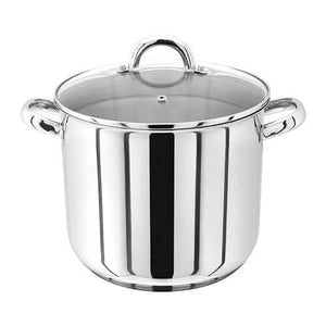Judge 28cm Stainless Steel Stockpot With Vented Glass Lid, 13 Litre PP84