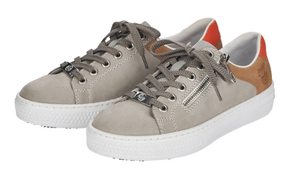 Rieker L59A1-40 Grey Trainers grey and tan flatform