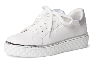 MARCO TOZZI Ladies White Quilted Platform Trainers 23705-26 sneakers