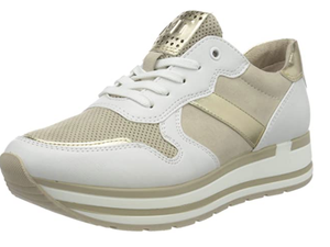 Marco Tozzi Ladies Platform Sneaker With Gold Metallic (SS21) – Dune Comb 23720-26