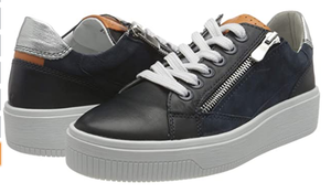Marco Tozzi - 23769-26 Navy Runners leather sneaker