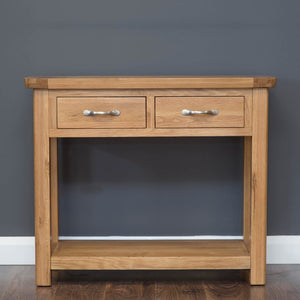Console Table Oak
