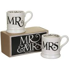 Emma Bridgewater Toast Mr & Mrs Half Pint Mug Set