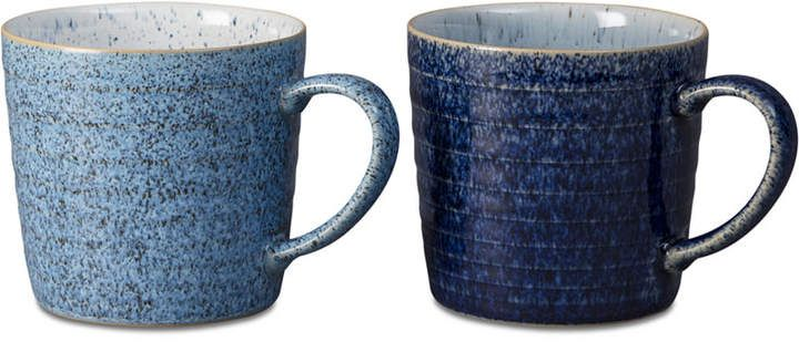 Denby Studio Blue Mugs Pack of 2