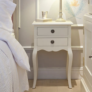 Bedside Table Grey 2 Drawer