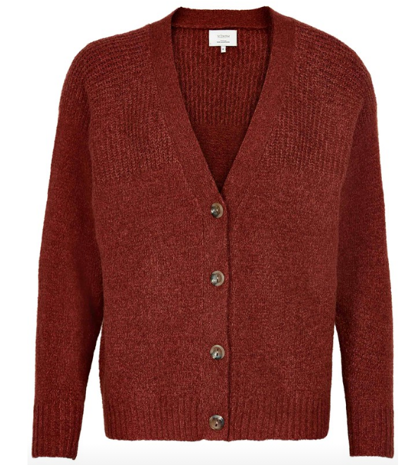 Numph cardigan Numerilyn in barn red