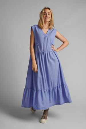 Nusofia jersey dress sleeveless in vista blue