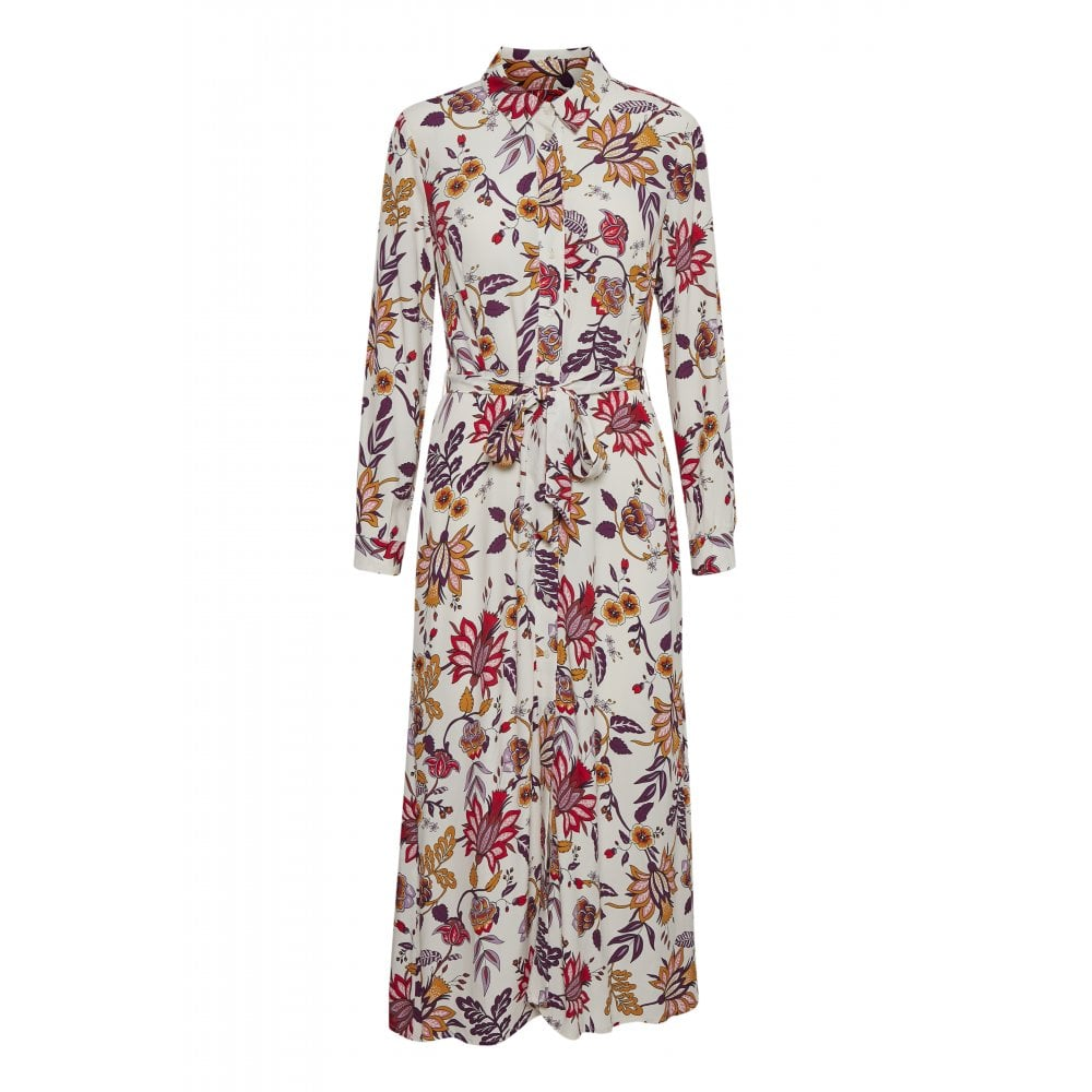 PART TWO SHELBY DRESS- CREAM FLORAL PRINT