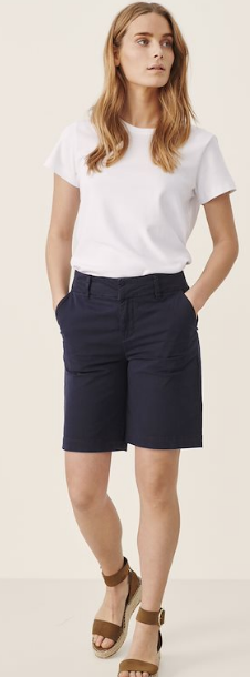PART TWO SOFFASPW SHORTS CASUAL soffas in navy or white