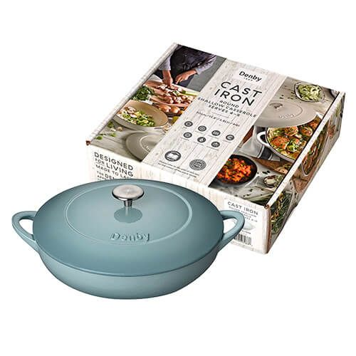 Denby Cast Iron Pavillion Shallow Casserole