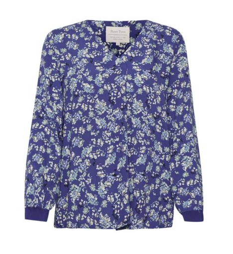 PART TWO PAX FLORAL PRINT TOP IN BLUE