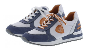 REMONTE R2527-15 women sneaker white & blue with orange detail