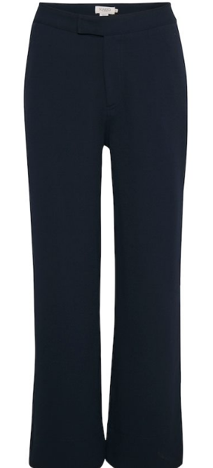 Soaked in Luxury ladies trousers Ribea Pants in night sky, straight to wide fit