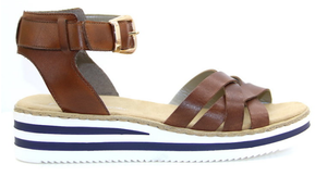 Rieker V02C6-24 ladeis sandal in brown