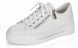 RIEKER N4921-80 LADIES WHITE LACE UP SHOES