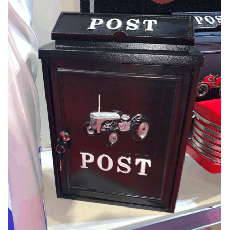 Wall Mounted Postbox (Grey Tractor)