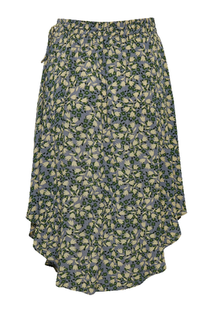Soaked in Luxury skirt Ilio in small flower flint stone, knee/midi length and A line