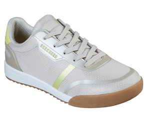 SKECHERS WOMENS ZINGER 2.0 PEARLESCENT PATH TRAINER - NATURAL/YELLOW