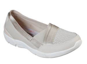 SKECHERS WOMENS BE-LUX DAYLIGHTS TRAINER- NATURAL