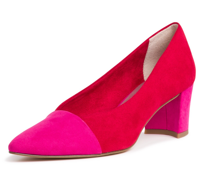 MARCO TOZZI 2-22414-24 WOMENS HEELED SHOE- RED/PINK
