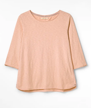 WHITE STUFF WOMENS CARLEY JERSEY TEE- SORREL PINK PLAIN