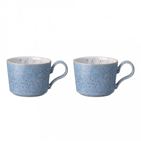 Denby Studio Blue Brew Set of 2 Tea/Coffee Cup
