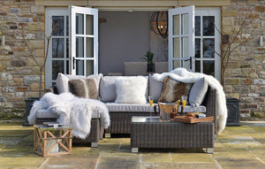 Sailsbury Rattan Sofa Set L-Shaped Sofa and Table Outdoor Lounge Set - IN STOCK NOW
