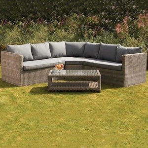 WENTWORTH 8 SEATER CORNER SET WITH COFFEE TABLE