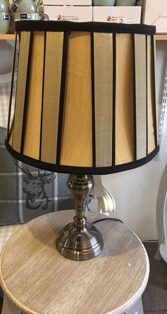 Pewter Base Lamp - Black and Gold
