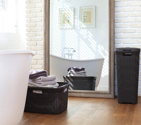 Curver Laundry Hamper Square Brown
