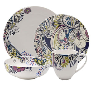 Denby 16 Piece Monsoon Cosmic Dinnerware Set