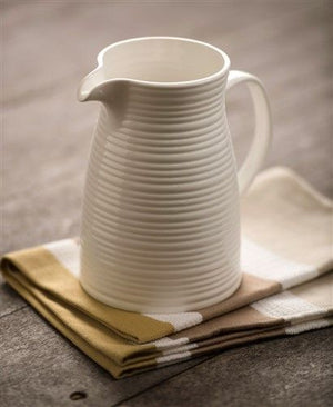 Belleek Living Ripple Pitcher Jug