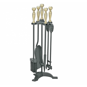 Manor Companion Set Black & Brass 1066