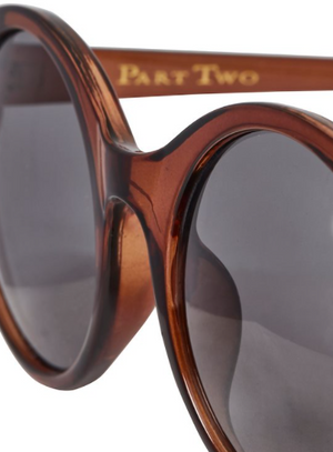 PART TWO WOMENS' SHIRLEY SUNGLASSES - BROWN OLIVE