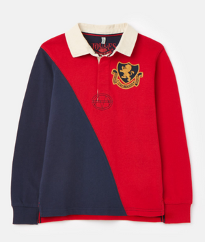 JOULES BOYS TRY RUGBY SHIRT - NAVY STRIPE