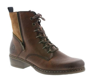 RIEKER WOMENS BOOT Y800-24 - BROWN