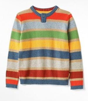 WHITE STUFF BOYS GARDEN STRIPE JUMPER- MULTI STRIPE
