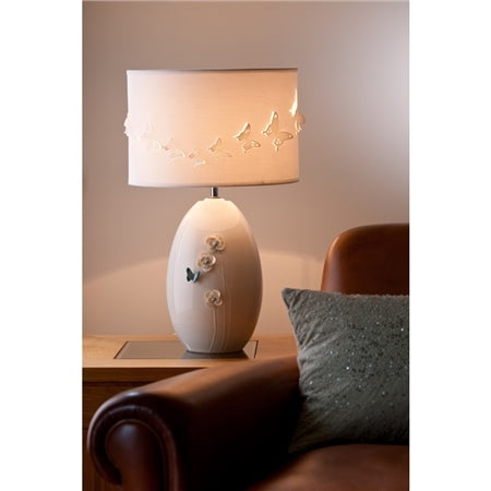 BELLEEK LIVING AZURE LAMP - UK FITTINGS