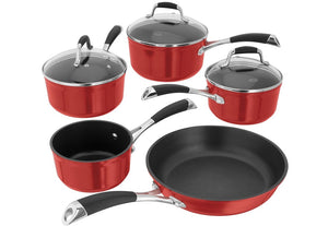 Stellar 3000 Ruby Red Induction Ready 5 Piece Set Ref: S3C1R